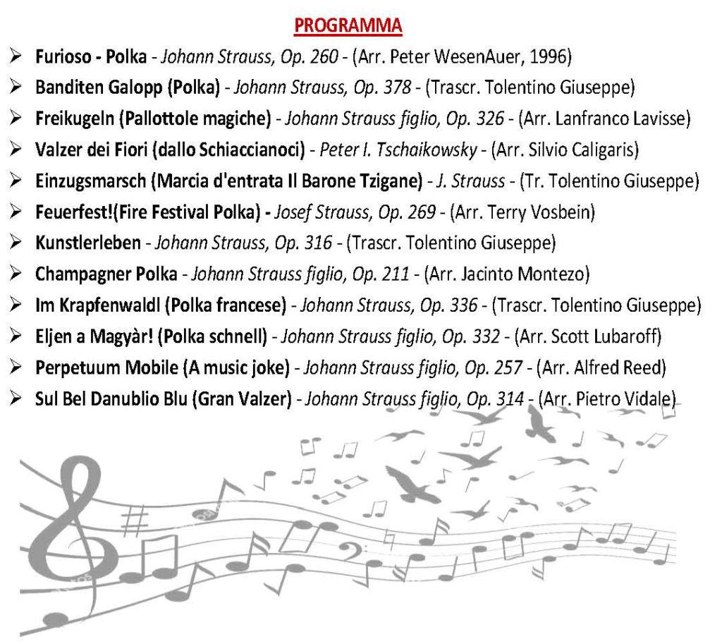 Programma Concerto di Capodanno